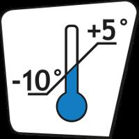 Min -10 °C - Max +5 °C