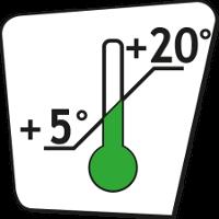 Min +5 °C - Max +20 °C