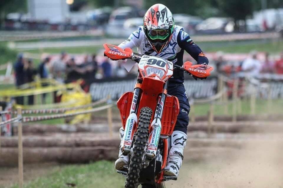 Rudy Moroni sul podio E1