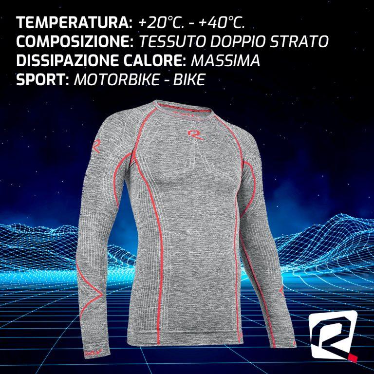 MANICA LUNGA DOPPIO STRATO ULTRA LEGGERA MAN: +20°C. – +40°C.